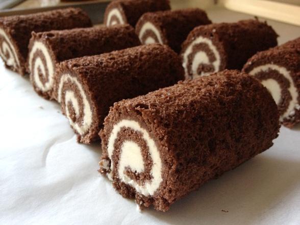 Chocolate sponge roll cake recipe