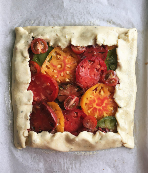 Heirloom Tomato Tart with Goat Cheese and Parmesan-Pepper ...